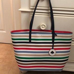 Striped Kate Spade Tote Bag